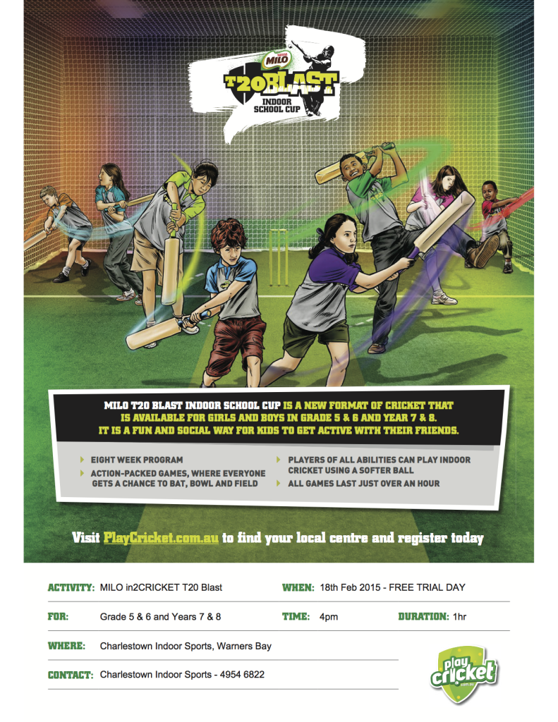 MILO T20 Blast Indoor School Cup Flyer pdf