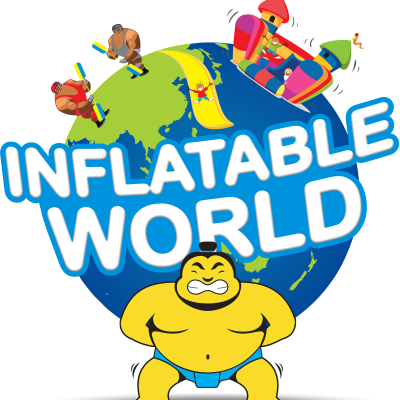 Inflatable world logo Aus